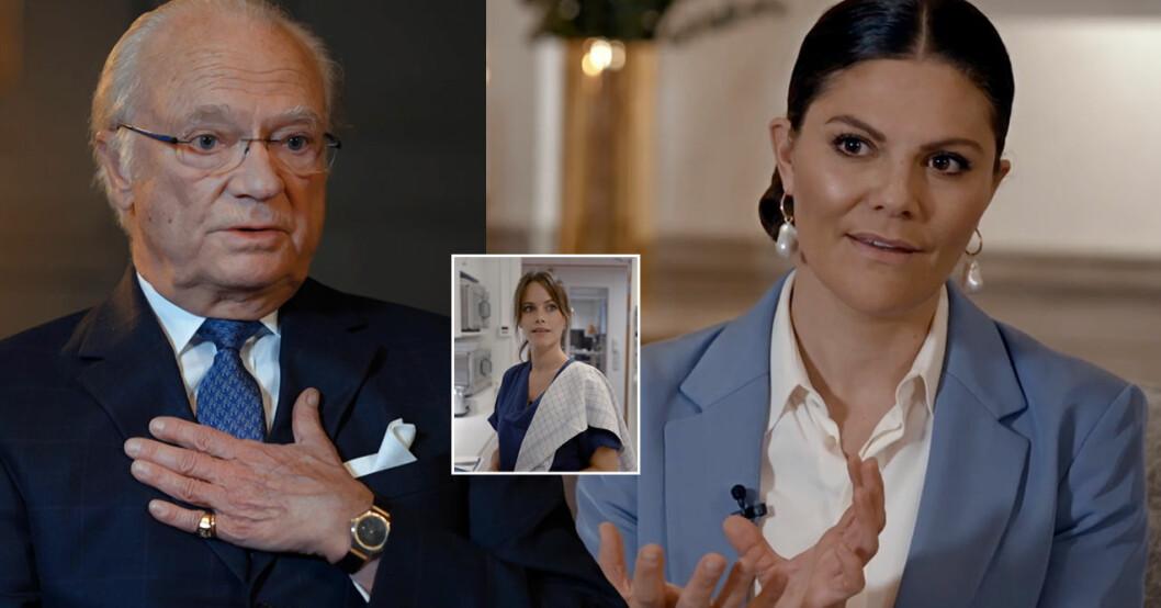 Kungen Kronprinsessan Victoria Året med kungfamiljen 2020 SVT pandemin