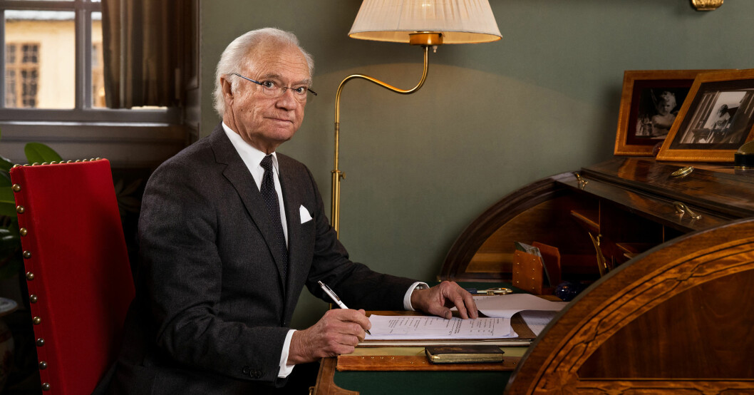 Kungen Kung Carl Gustaf Drottningholms slott Pandemin