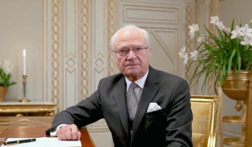 Kungen Kung Carl Gustaf i Tillsammans mot cancer 2021