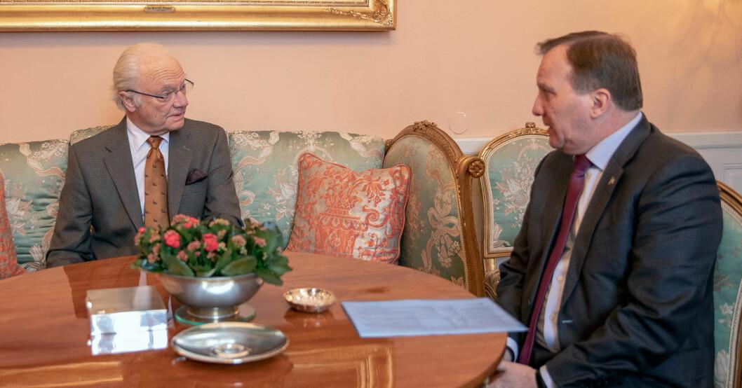 Kungen och statsministern Stefan Löfven