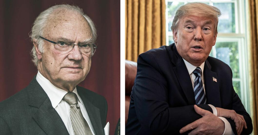Kungen och Donald Trump