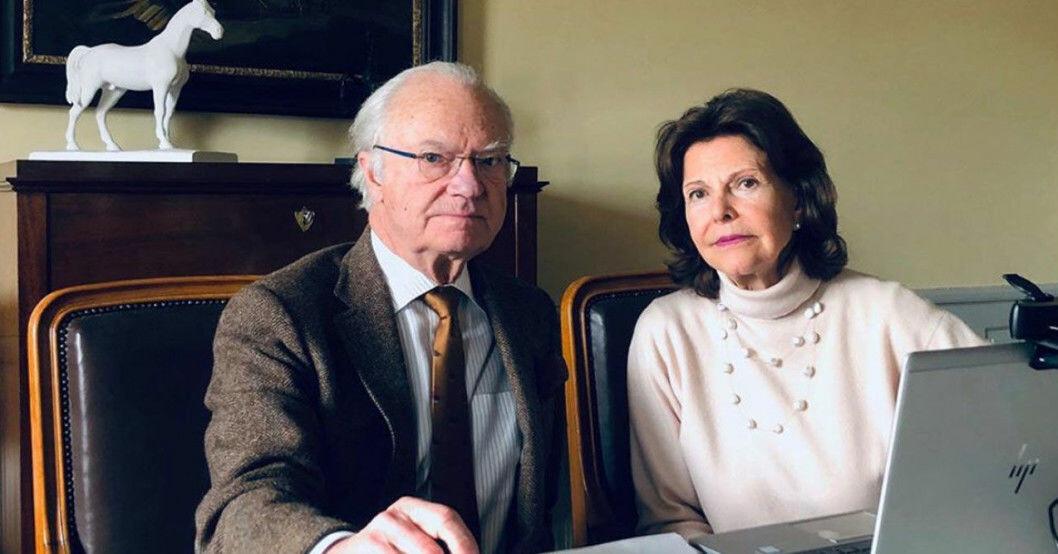 Kungen och Silvia.