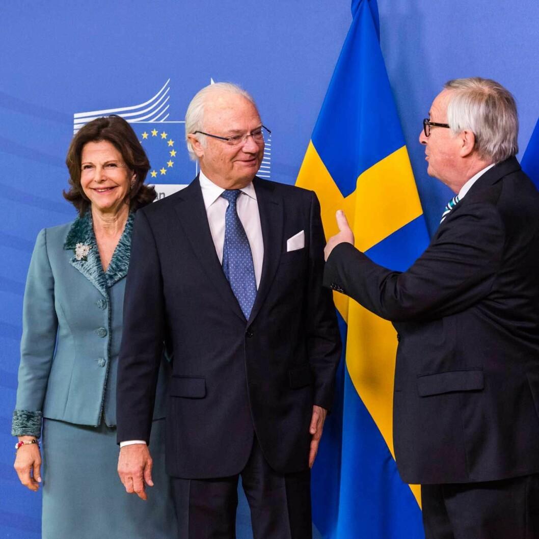 Kungaparet i Bryssel, kungaparet med Jean-Claude Juncker, orförande för EU-kommissionen.