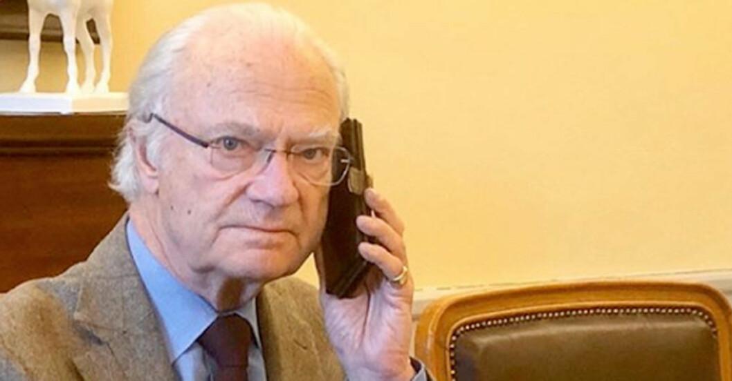 Kungen har telefonmöte med stefan löfven