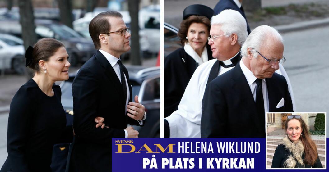 Kungen drottingen kronprinsessan Victoria på kungliga begravningen
