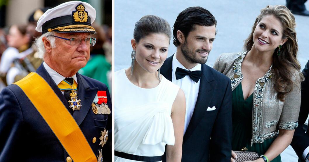 Kung Carl Gustaf, kronprinsessan Victoria, prins Carl Philip och prinsessan Madeleine