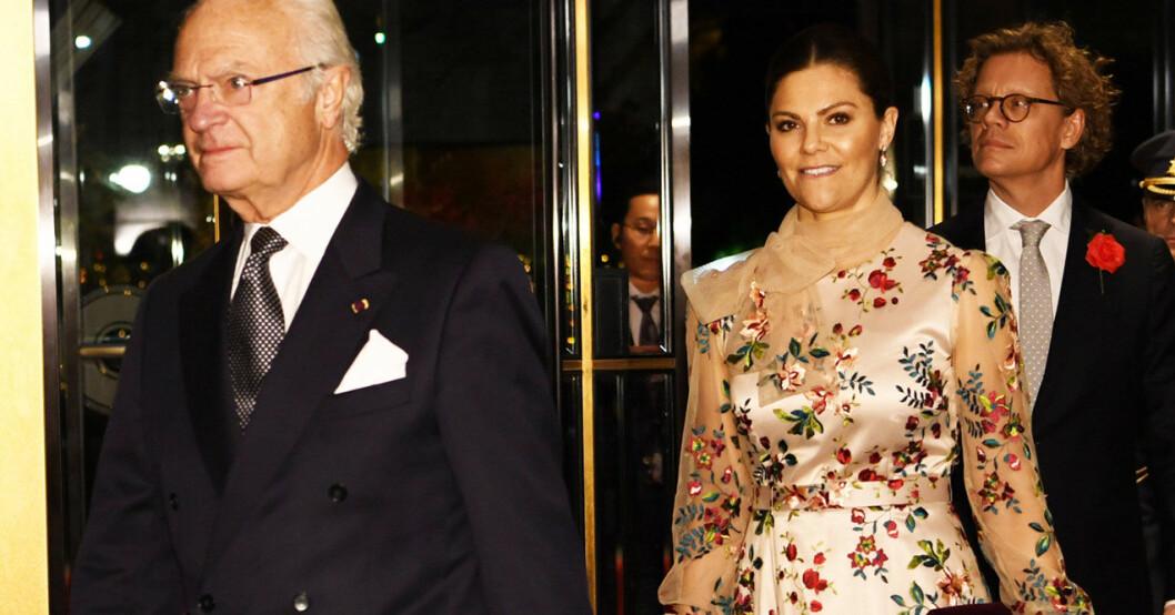 Kungen och kronprinsessan Victoria i Tokyo