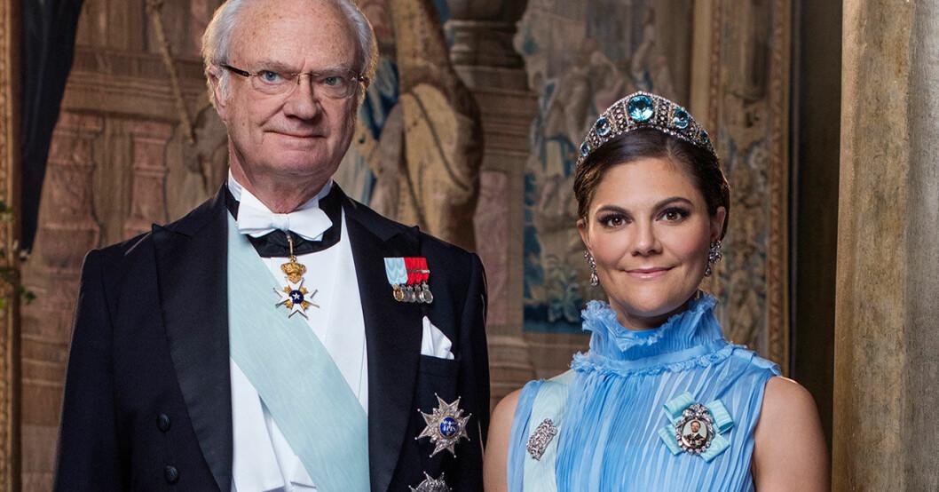 Kungen och kronprinsessan Victoria.