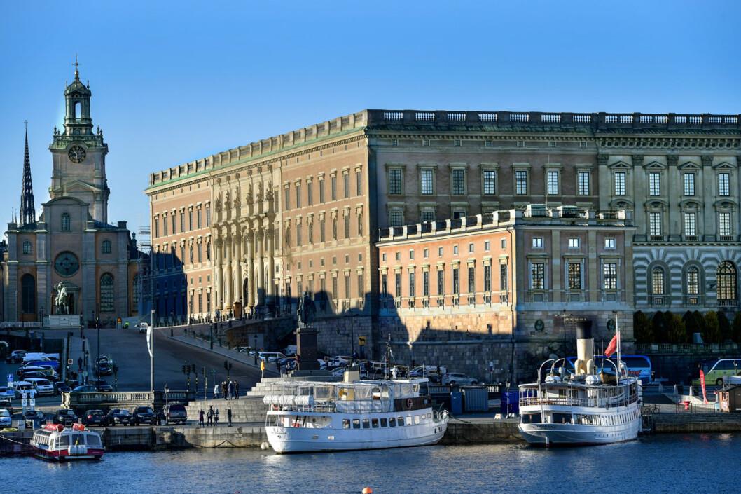 Kungliga slottet - exteriörbild på fasaden mot Norrström.