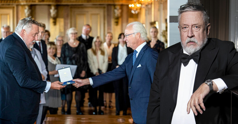Leif GW Persson med kungen