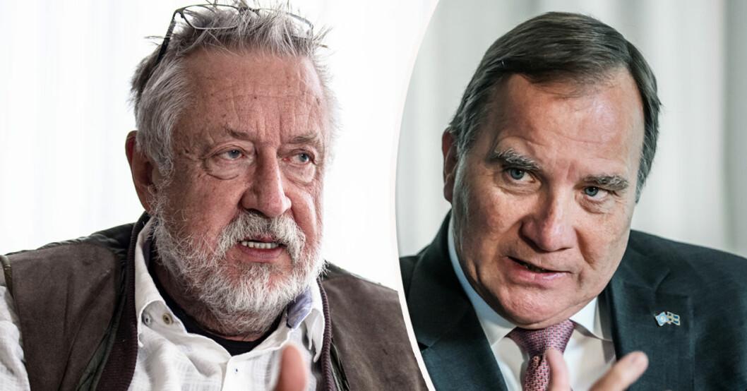 Leif GW Persson och Stefan Löfven