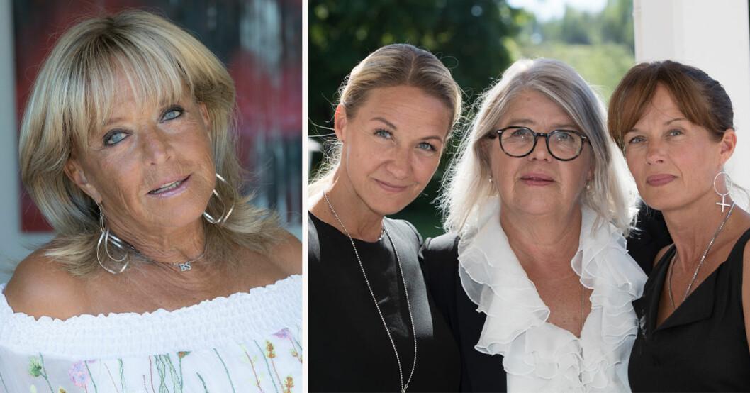 """Barbro """"Lill-Babs"""" Svensson, Kristin Kaspersen, Monica Svensson och Malin Berghagen"""