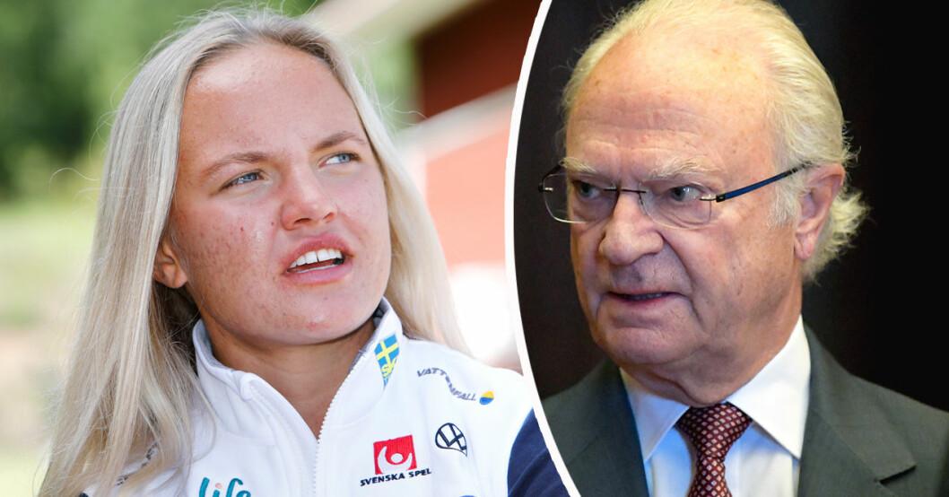Linn Svahn och kung Carl Gustaf