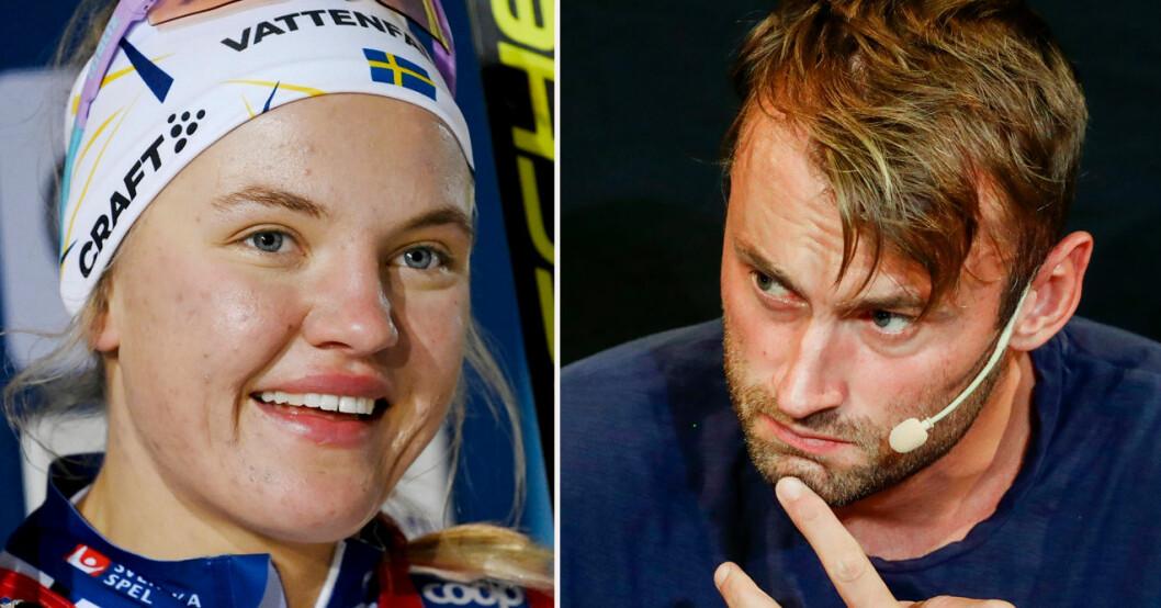 Linn Svahn och Petter Northug.