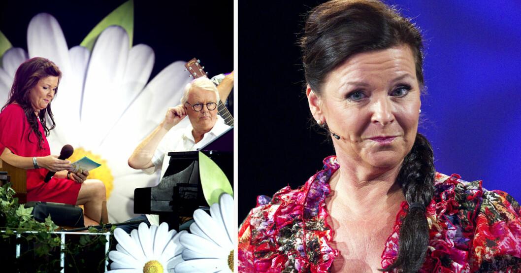 Lotta Engberg och Curt-Eric Holmquist på Liseberg