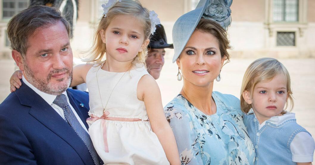 Madeleine och familjen – på lyckliga dagar.