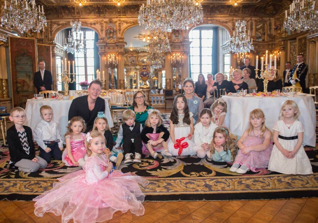 Prinsessan Madeleines sagokalas för Min Stora Dag på Kungliga slottet.