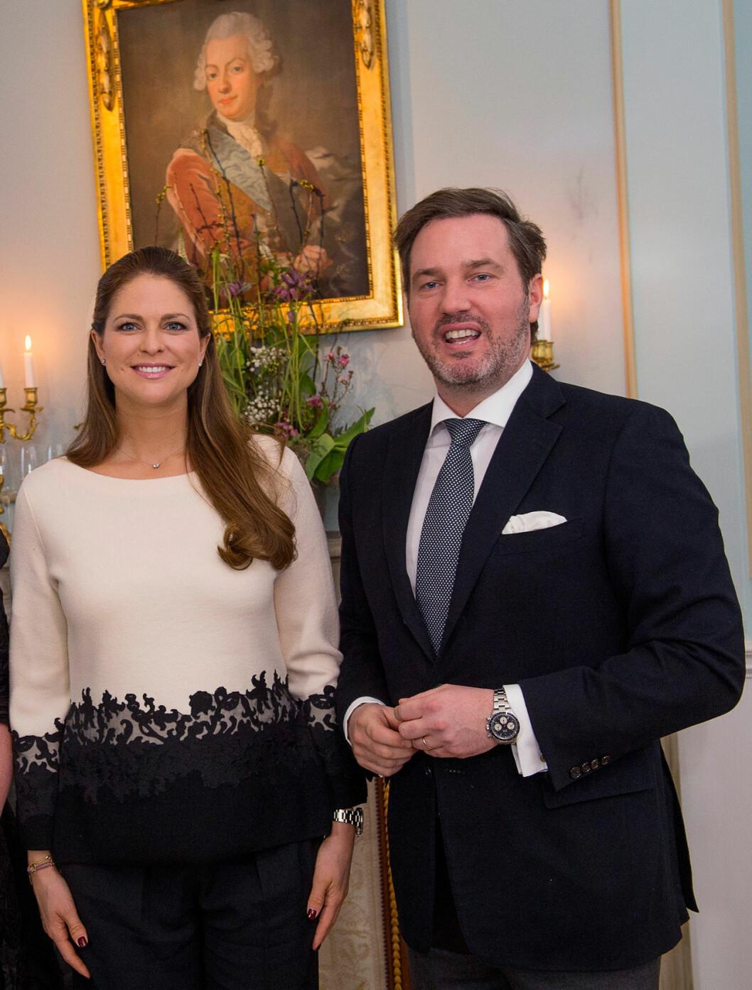 Prinsessan Madeleine och Chris O'Neill i Gävle 2015.