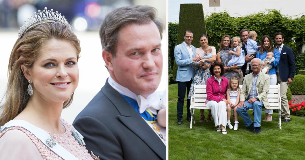 Prinsessan Madeleine, Chris O'Neill och kungafamiljen