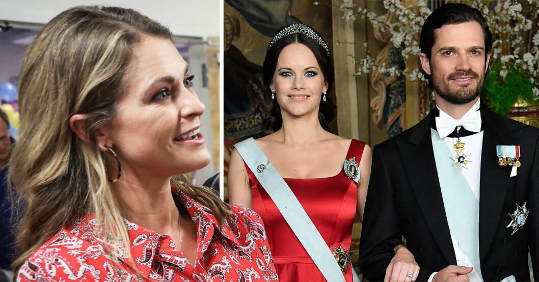 Prinsessan Madeleine, prinsessan Sofia och prins Carl Philip.