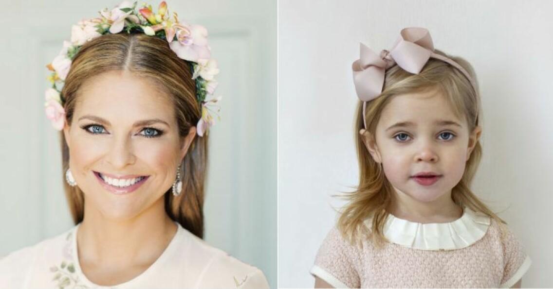 Prinsessan Madeleine och dottern prinsessan Leonore