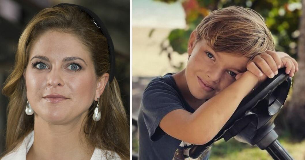 Prinsessan Madeleine och prins Nicolas