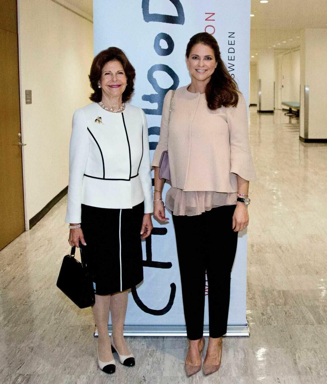 Drottningen och prinsessan Madeleine i FN för att lyfta frågan om barns rättigheter.