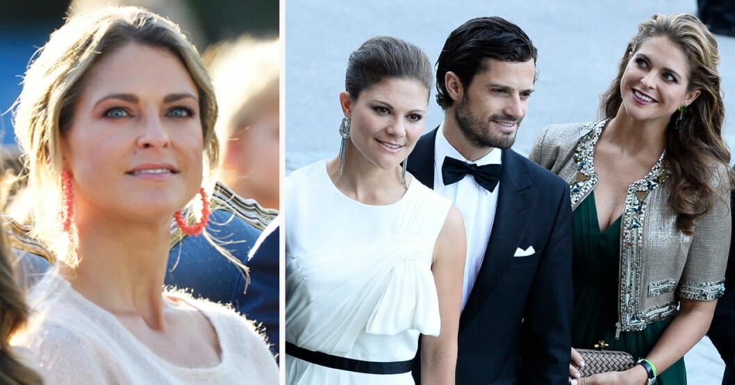 Prinsessan Madeleine, kronprinsessan Victoria och prins Carl Philip
