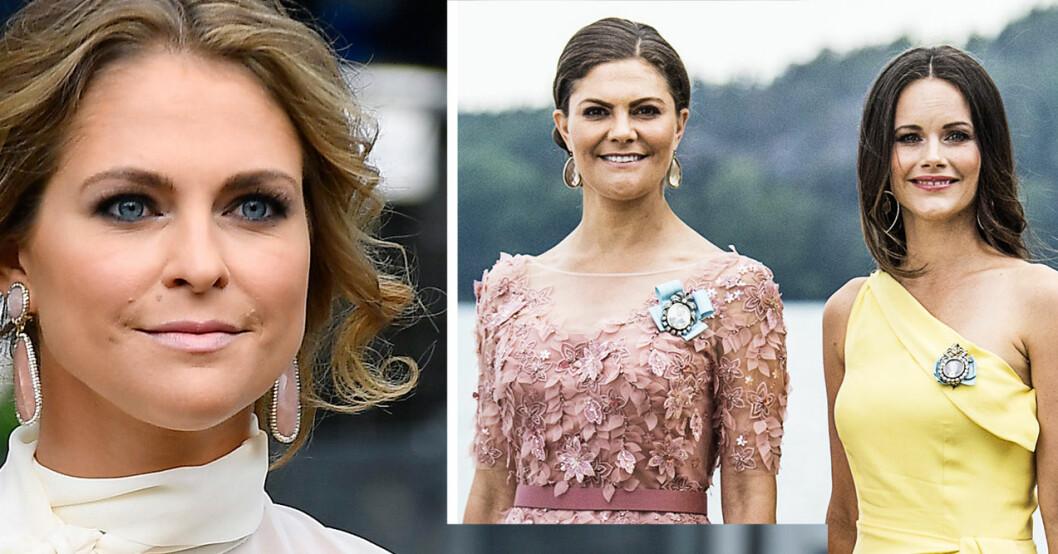 Prinsessan Madeleine, kronprinsessan Victoria och prinsessan Sofia.