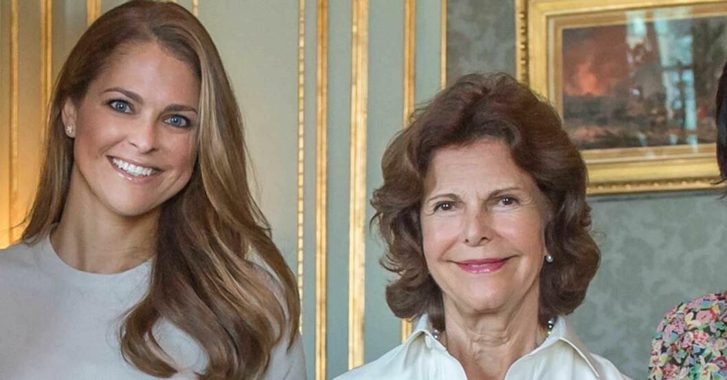 Prinsessan Madeleine och drottning Silvia.