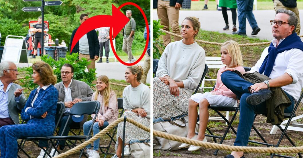 Kungafamiljen samlades förra helgen för att se Lena Philipsson uppträda på Solliden. Men på en bild syntes en man som fick många att reagera.