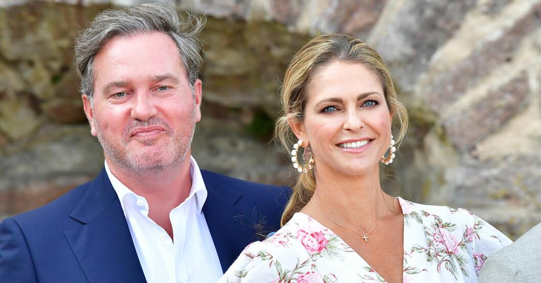 Prinsessan Madeleine och maken Chris O'Neill på Victoriadagen 2021.