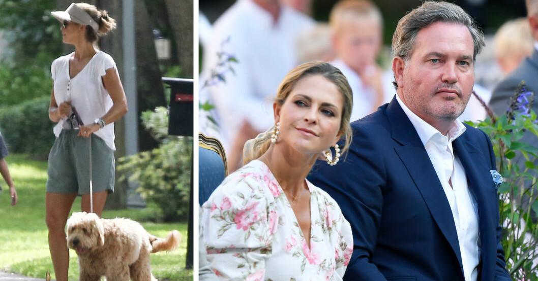 Prinsessan Madeleine, hunden Teddy och Chris O'Neill
