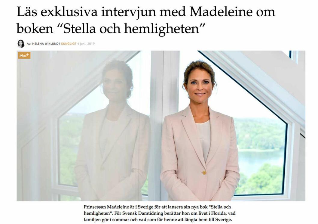 intervju med prinsessan madeleine