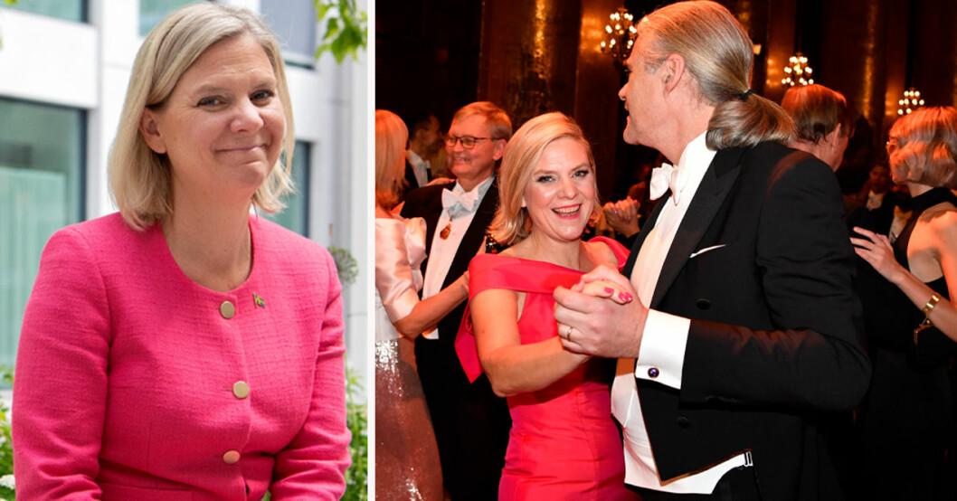 Magdalena Andersson med maken Richard Friberg