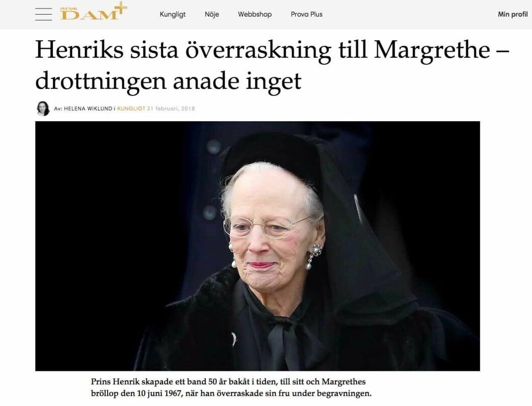 Henriks sista överraskning till Margrethe – drottningen anade inget