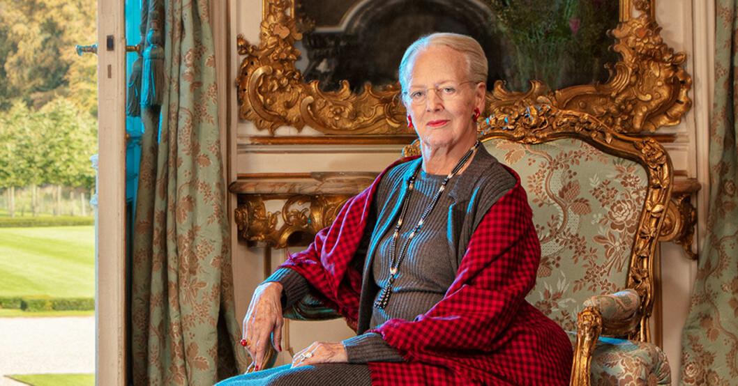 Drottning Margrethe på Fredensborgs slott.