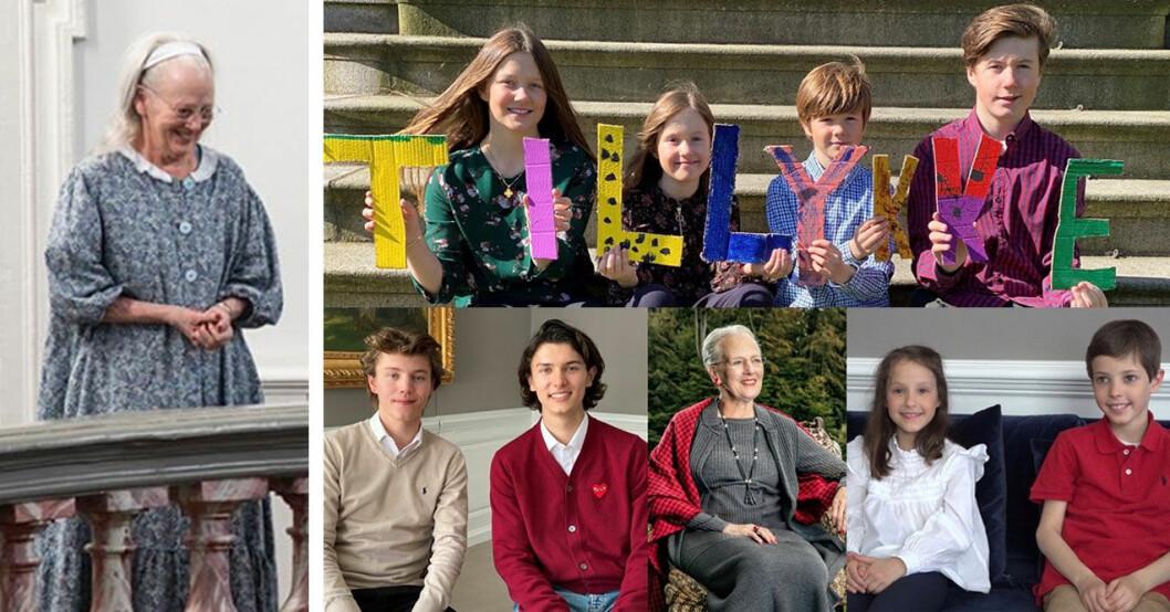 Barnbarnen firar drottning Margrethe på 80-årsdagen.