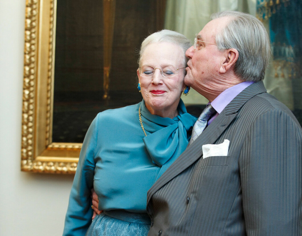 Drottning Margrethe prins Henrik