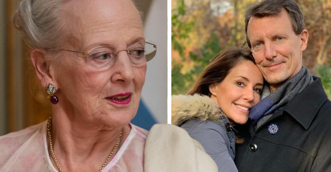 Drottning Margrethe Prins Joachim Prinsessan Marie jufirandet Julen 2020 Efter stroken