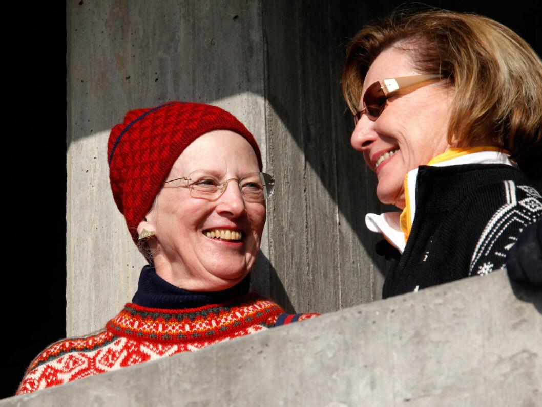 Drottning Margrethe och drottning Sonja.