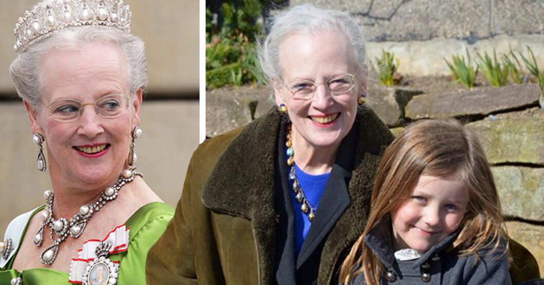 Drottning Margrethe som farmor med prinsessan Isabella som fyller år