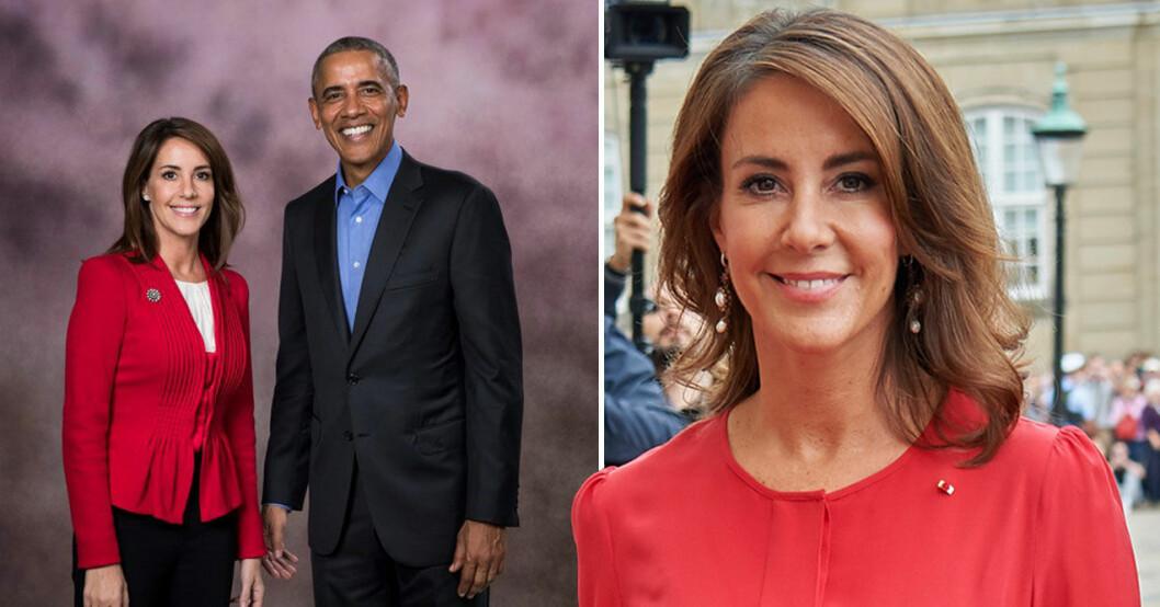 Prinsessan Marie och Obama.
