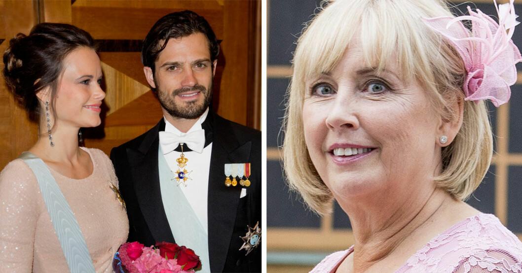 Marie Hellqvist, prinsessan Sofia och prins Carl Philip