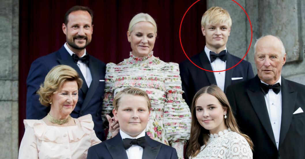 Marius Borg Höiby Norska kungafamiljen Kronprins Haakon Kronprinsessan Mette-Marit Drottning Sonja prins Sverre Magnus prinsessan Ingrid Alexandra kung Harald