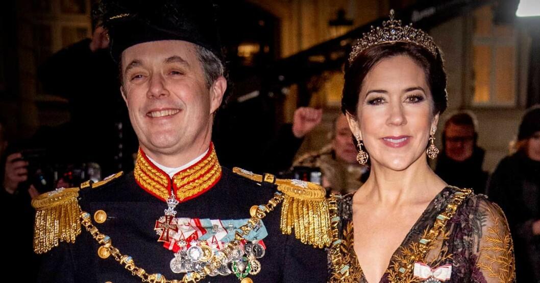 Frederik och Mary å gala.