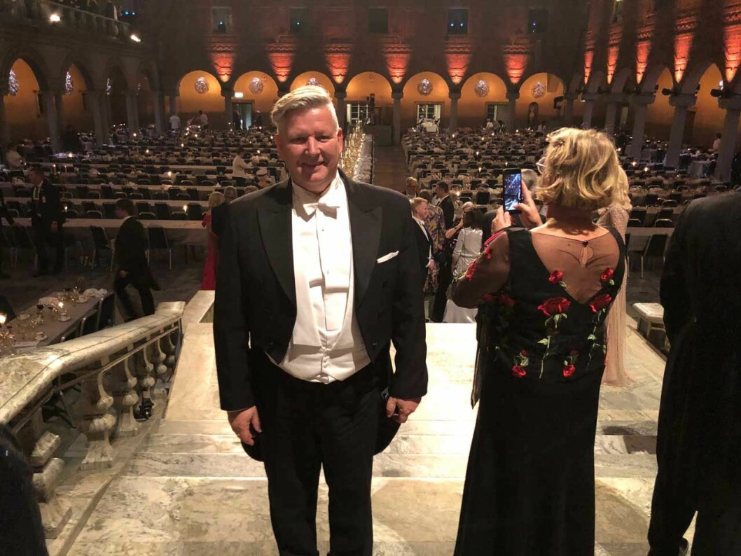 Etikettdoktorn Mats Danielsson under Nobelfesten 2019.