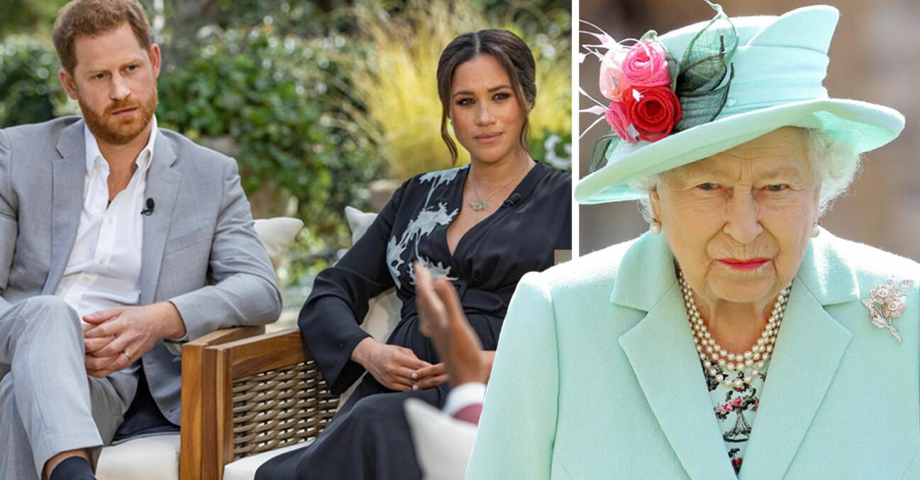 Prins Harry Meghan Markle Drottning Elizabeth