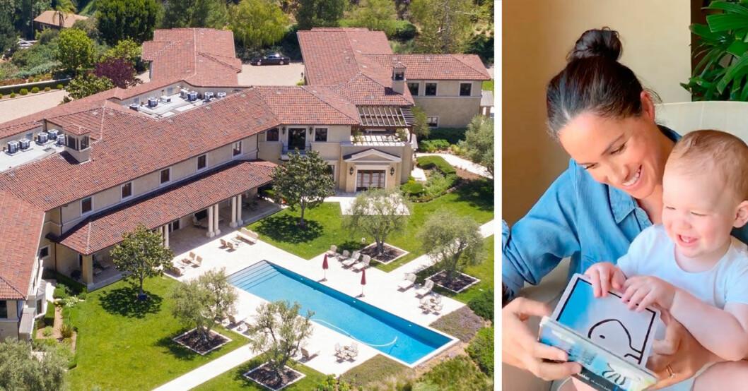 Meghans och prins Harrys nya hus i Malibu, Los Angeles