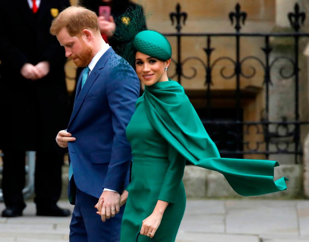 Meghan och Harry under ett av sina sista kungliga uppdrag